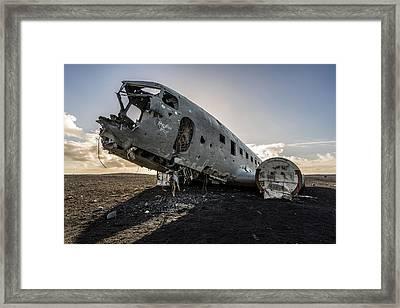 Crashed Dc-3 Framed Print