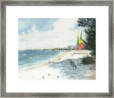 Crescent Beach On Siesta Key Framed Print