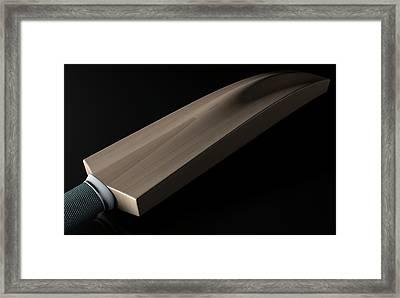 Cricket Bat Dark Framed Print