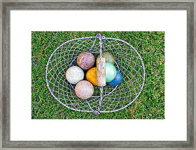 Croquet Balls Framed Print by Tom Gowanlock