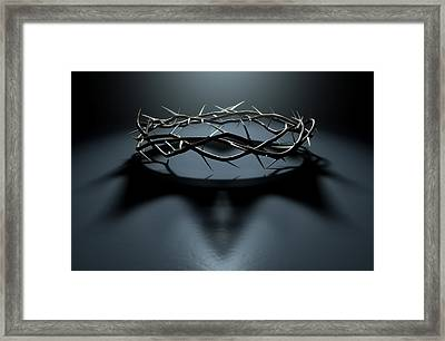 Crown Of Thorns With Royal Shadow Framed Print by Allan Swart