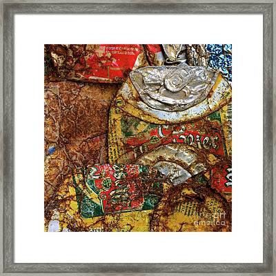 Crushed Beer Cans. Framed Print