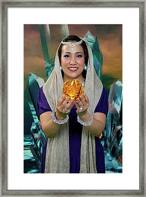 Crystal Goddess Framed Print