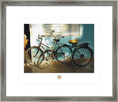 2 Cuban Bicycles Framed Print