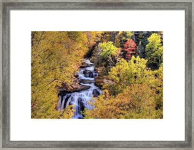 Cullasaja Falls Framed Print by Doug McPherson