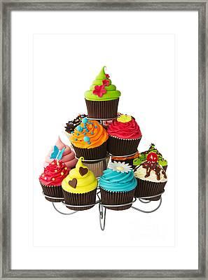 Cupcake Stand Framed Print