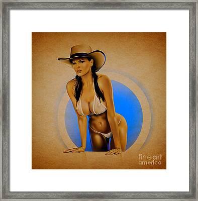 Framed Print featuring the digital art Dana by Brian Gibbs