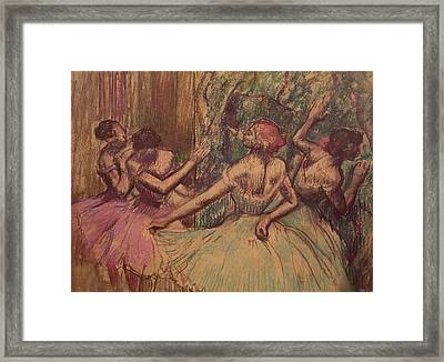 Dancers In The Wings Framed Print