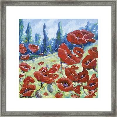 Dancing Poppies Framed Print by Richard T Pranke