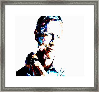 Daniel Craig 007 Framed Print by Brian Reaves