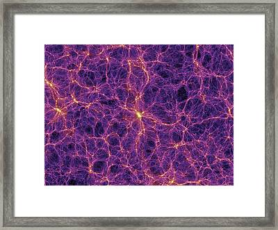 Dark Matter Distribution Framed Print by Volker Springelmax Planck Institute For Astrophysics