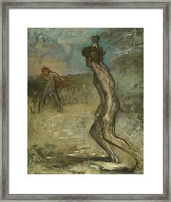 David And Goliath Framed Print