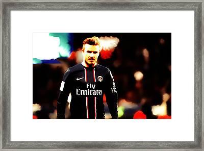 David Beckham 5c Framed Print