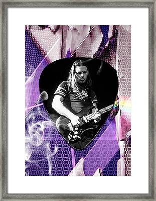 David Gilmour Pink Floyd Art Framed Print by Marvin Blaine