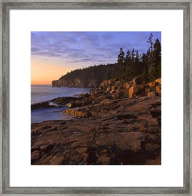 Framed Print featuring the photograph Dawn's Early Light by Stephen  Vecchiotti