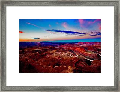 Framed Print featuring the photograph Dead Horse Point by Norman Hall