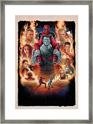 Deadpool 2016 Framed Print