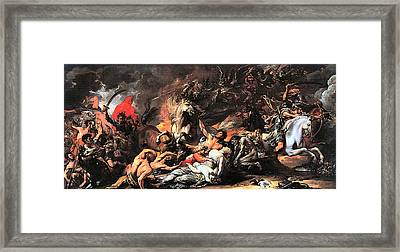 Death On A Pale Horse Framed Print