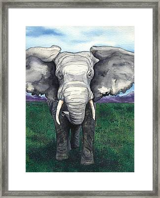 Defiant Framed Print by Brazen Edwards