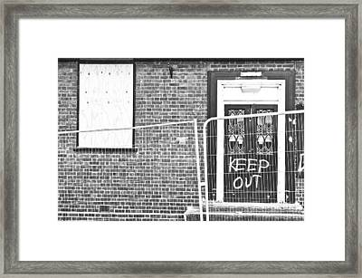 Demolition Site Framed Print