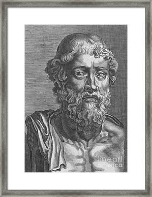Demosthenes, Ancient Greek Orator Framed Print