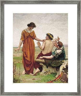 Destiny Framed Print by Thomas Cooper Gotch