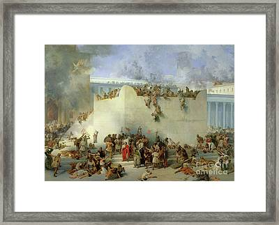 Destruction Of The Temple Of Jerusalem Framed Print
