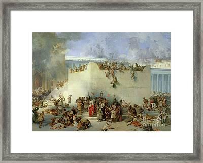 Destruction Of The Temple Of Jerusalem Framed Print