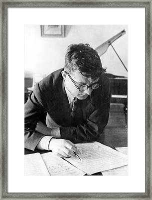 Dimitri Shostakovich,  Russian Composer Framed Print by Everett