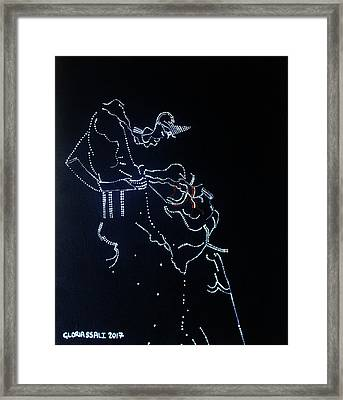 Dinka Corset - South Sudan Framed Print by Gloria Ssali
