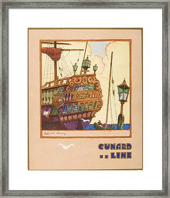 Dinner Menu. Cunard Line. R.m.s Framed Print