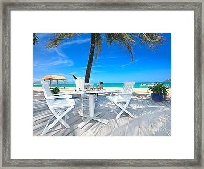 Dinner On The Beach Framed Print by MotHaiBaPhoto Prints