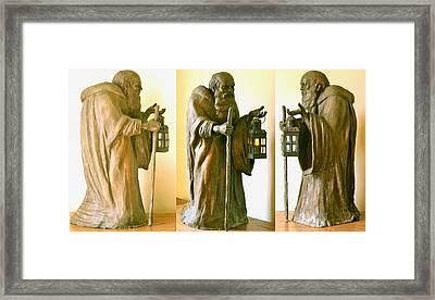 Diogenes Framed Print by Deborah Dendler