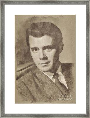 Dirk Bogarde, Vintage Actor Framed Print by John Springfield