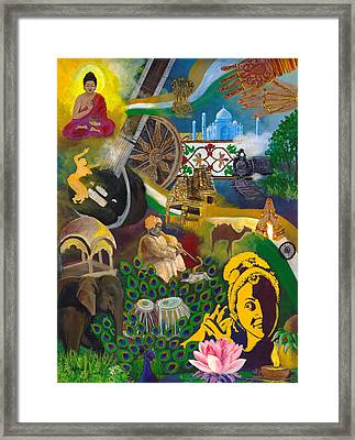 Discover India Framed Print