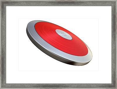 Discus Isolated Framed Print