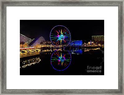 Disney California Adventure Mickey's Fun Wheel Framed Print by Peter Dang