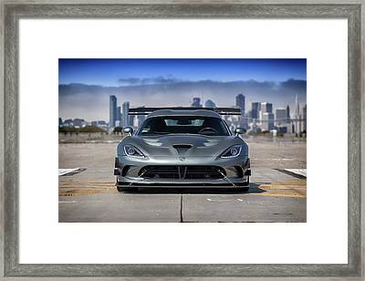 Framed Print featuring the photograph #dodge #acr #viper by ItzKirb Photography