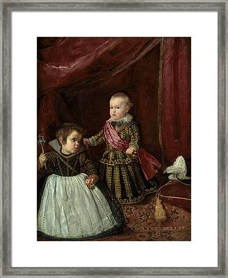 Don Baltasar Carlos With A Dwarf Framed Print