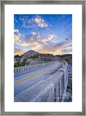 Donner Memorial Bridge Framed Print