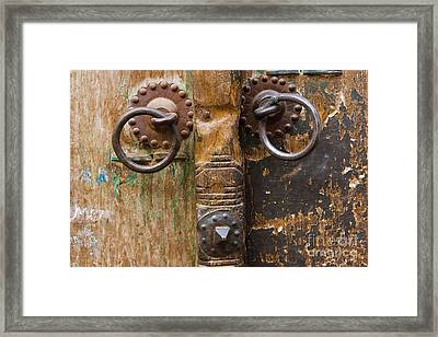 Door Knob Framed Print by Juan  Silva