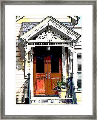 Door Series Framed Print by Ginger Geftakys