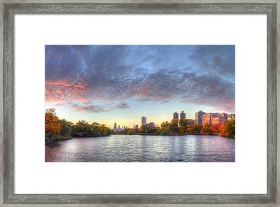 Downtown Chicago From Lincoln Park Framed Print