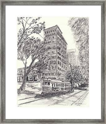 Downtown Memphis Framed Print