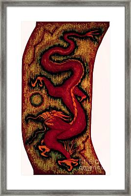 Dragon Framed Print by Fei A
