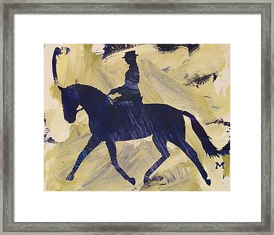 Dressage Queen Framed Print
