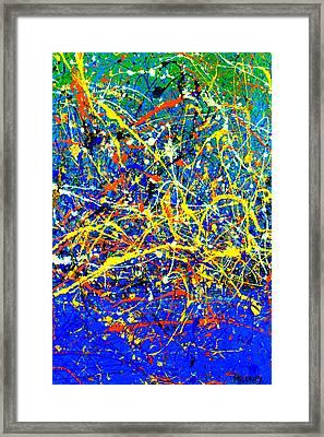 Dripx 2 Framed Print