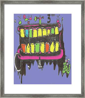 Drool Framed Print by Robert Wolverton Jr