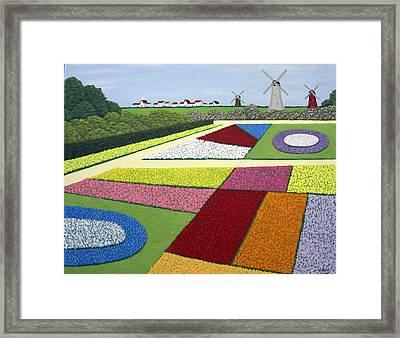 Dutch Gardens Framed Print by Frederic Kohli