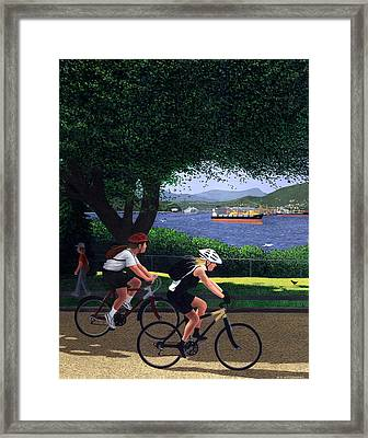East Van Bike Ride Framed Print by Neil Woodward